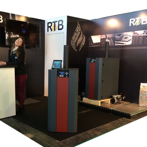 Messestand for NBE - RTB udstilling i Frankrig